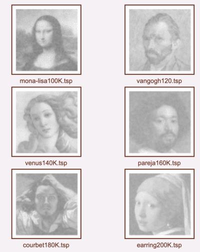 画像公式ページ:http://www.math.uwaterloo.ca/tsp/data/art/index.html