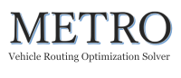 METRO (MEta Truck Routing Optimizer) のソルバー部分です.Python言語から呼び出して使用できます.